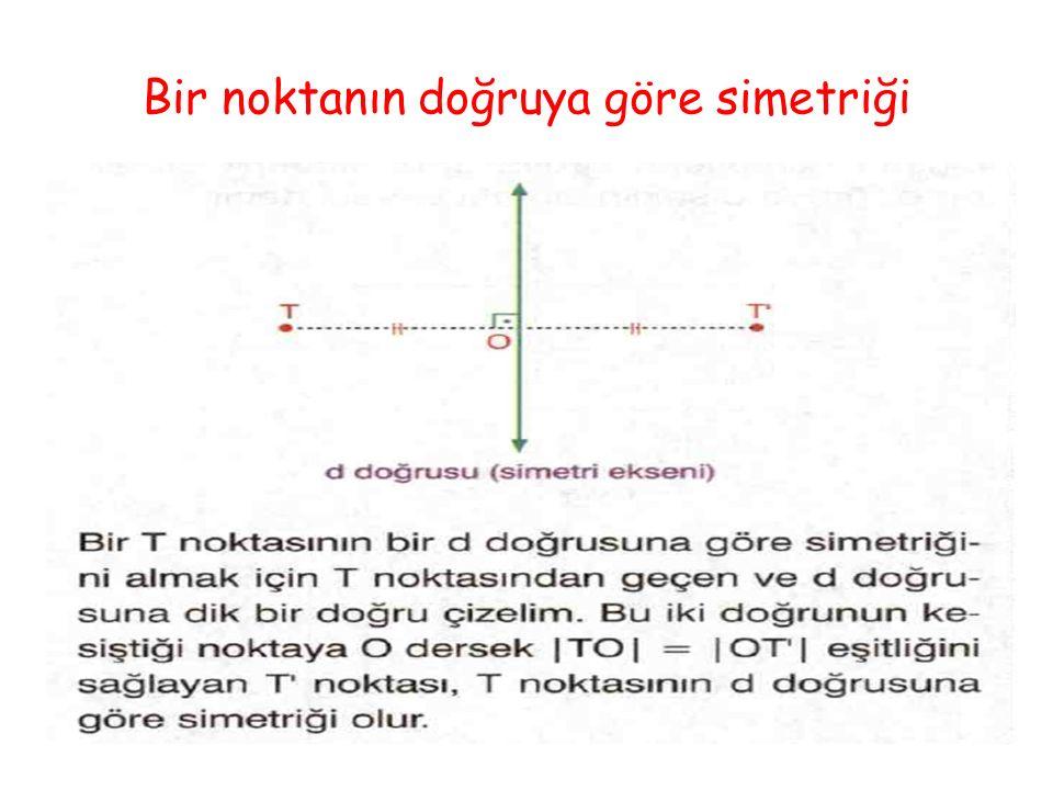 Bir doğrunun doğruya göre simetriği