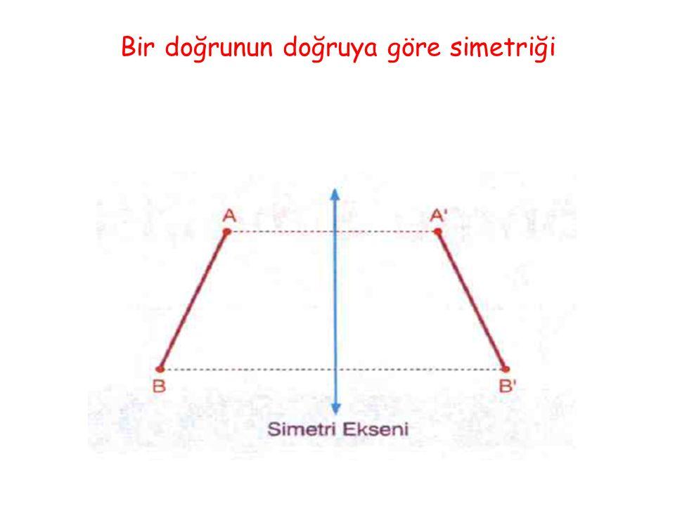 Bir üçgenin doğruya göre simetriği