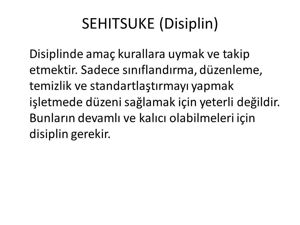 SEHITSUKE (Disiplin) Disiplinde amaç kurallara uymak ve takip etmektir.
