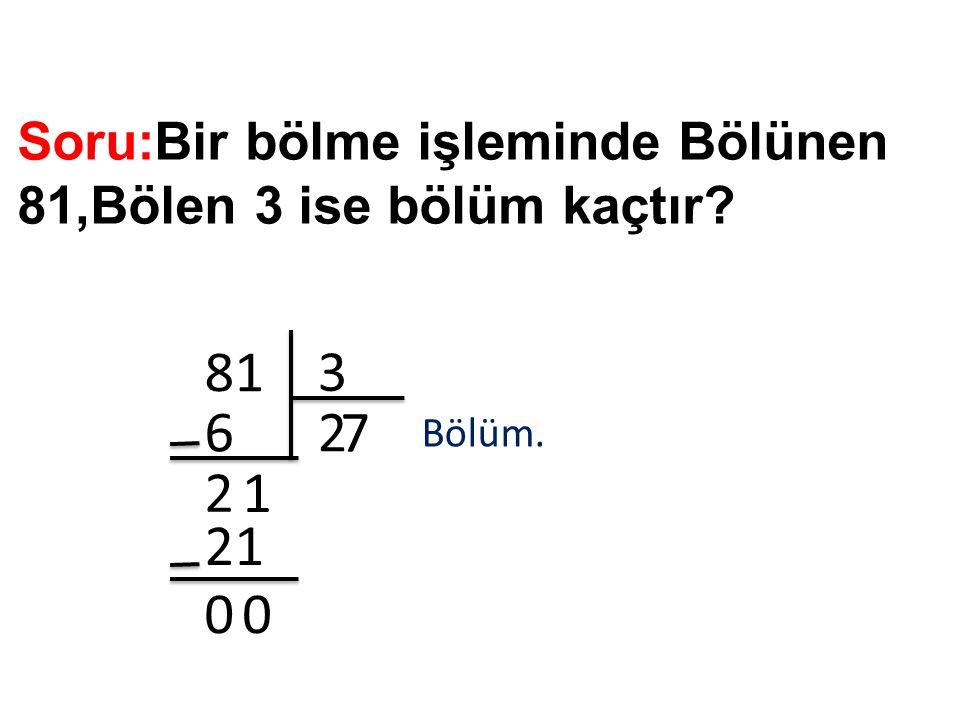 Soru: 64 sayısının yarısı kaçtır.64 2 36 0 4 2 4 00 Yarısı.