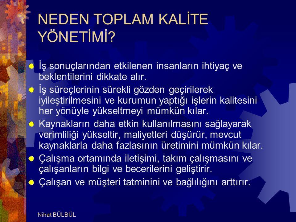 NEDEN TOPLAM KALİTE YÖNETİMİ.