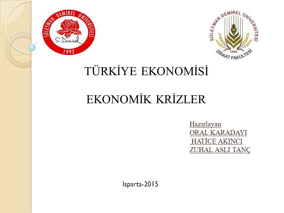 İÇİNDEKİLER İÇİNDEKİLER Ekonomik krizin tanımı Dünyada ve Türkiye'de görülen ekonomik krizler Ekonomik krizlerin nedenleri, sonuçları ve etkileri Sonuç ve değerlendirme Kaynaklar 2