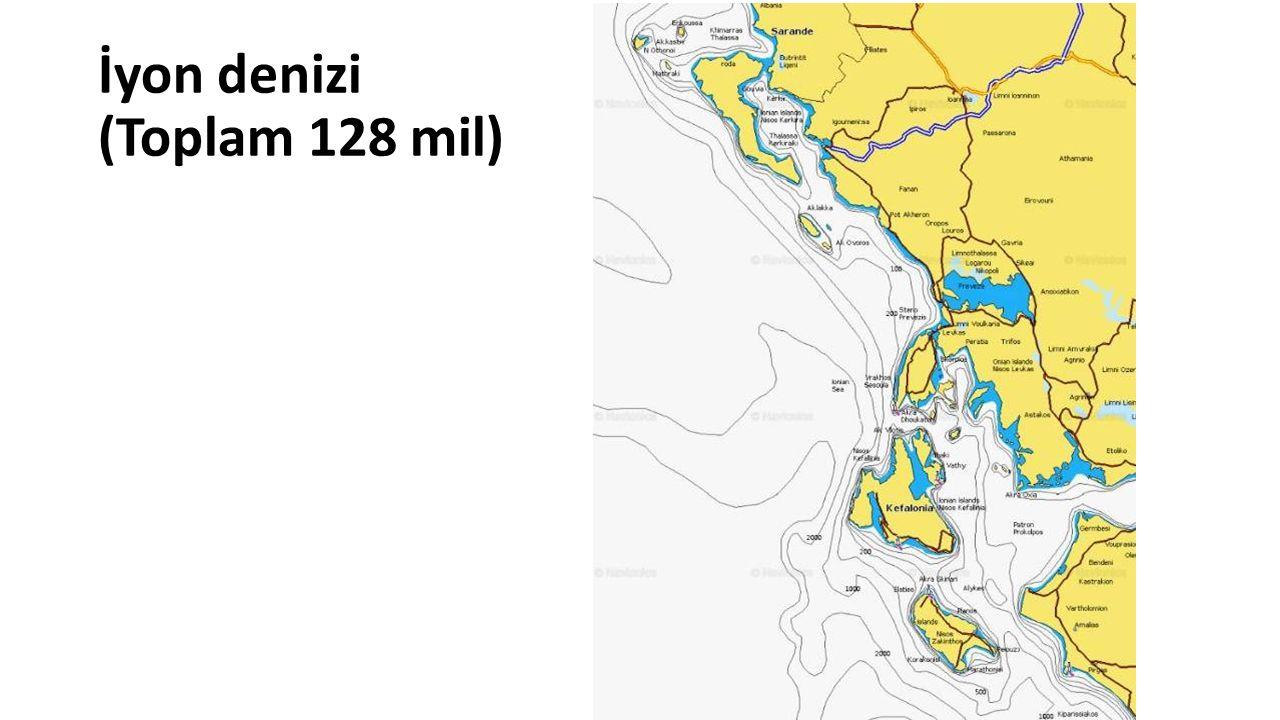 İyon denizi (Toplam 128 mil)