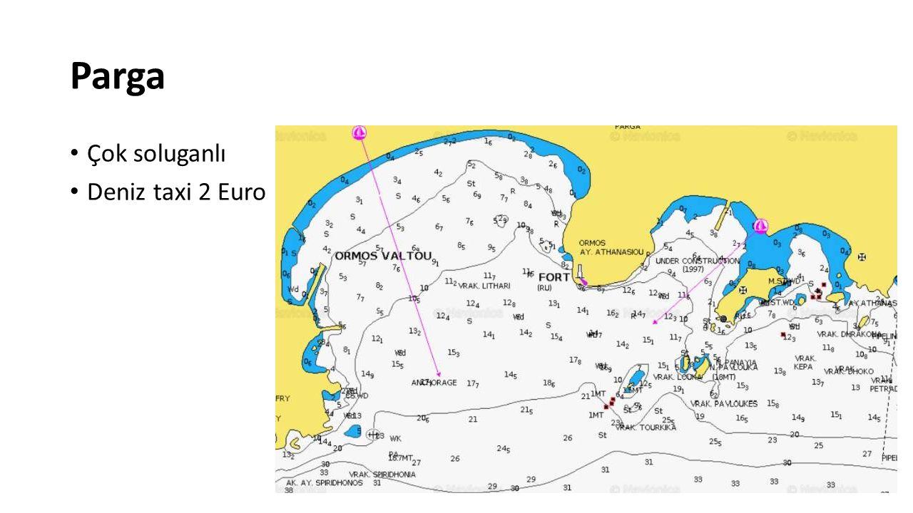 Parga Çok soluganlı Deniz taxi 2 Euro