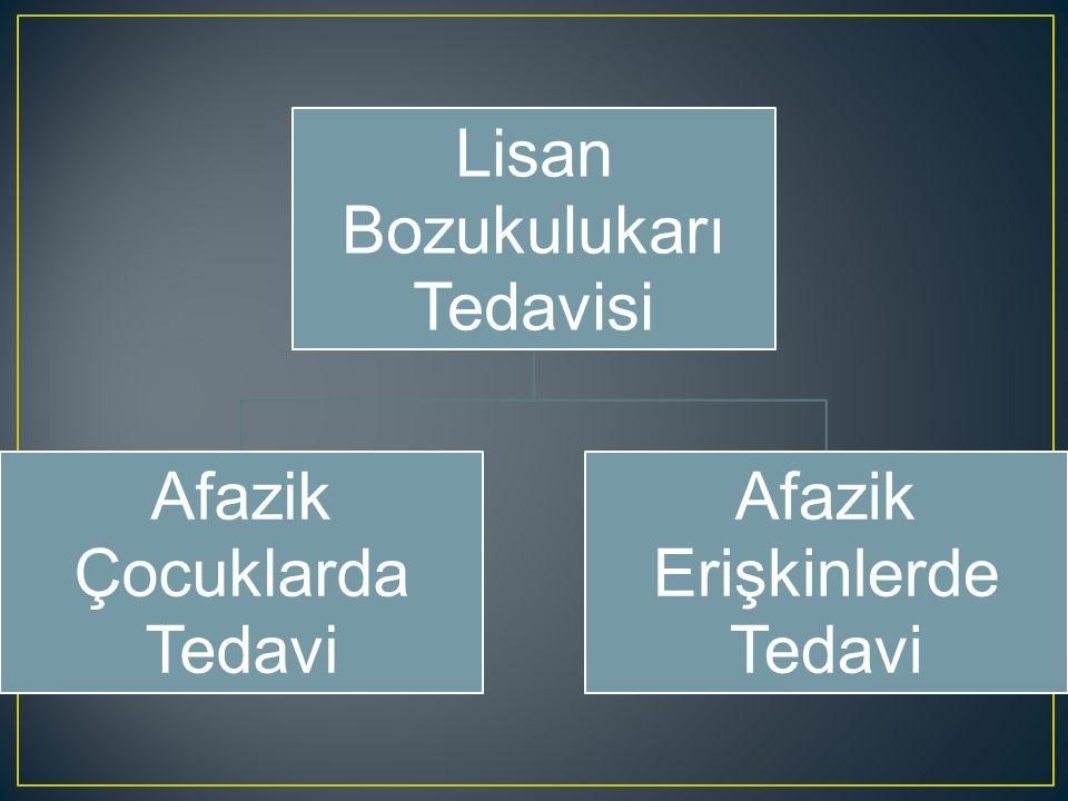 Afazinin çeşitli uzmanlar ( otolog, pediatrist, nörolog, vs.