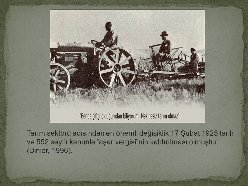 Bu dönemde en önemli ilk adım Türkiye ekonomisinin gelişmesi ve güçlenmesi için yapılması gerekenleri tartışmak üzere toplanan 1923 İzmir İktisat Kong