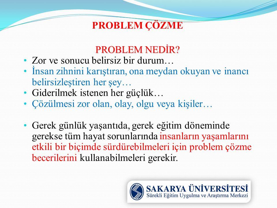 PROBLEM ÇÖZME NEDİR.