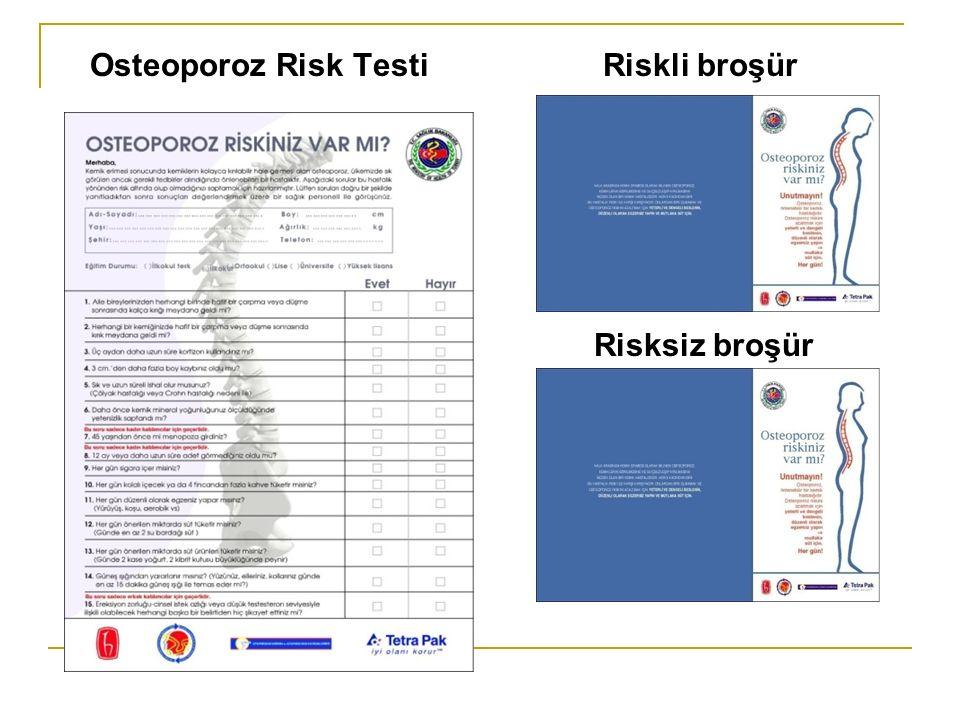 Osteoporoz Risk TestiRiskli broşür Risksiz broşür