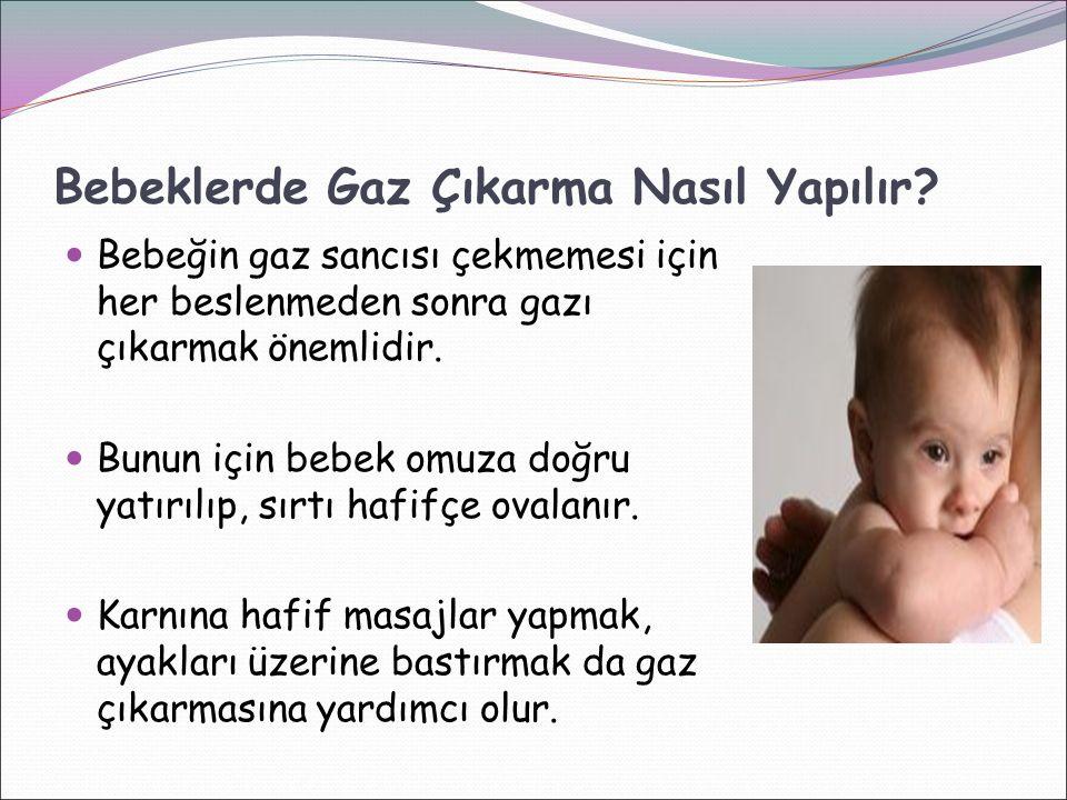 Bebeklerde Gaz Çıkarma Nasıl Yapılır? Bebeğin gaz sancısı çekmemesi için her beslenmeden sonra gazı çıkarmak önemlidir. Bunun için bebek omuza doğru y