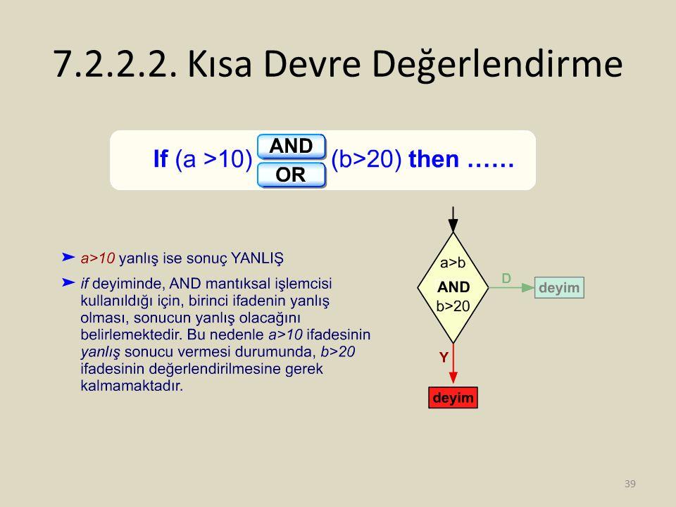 7.2.2.2. Kısa Devre Değerlendirme 39