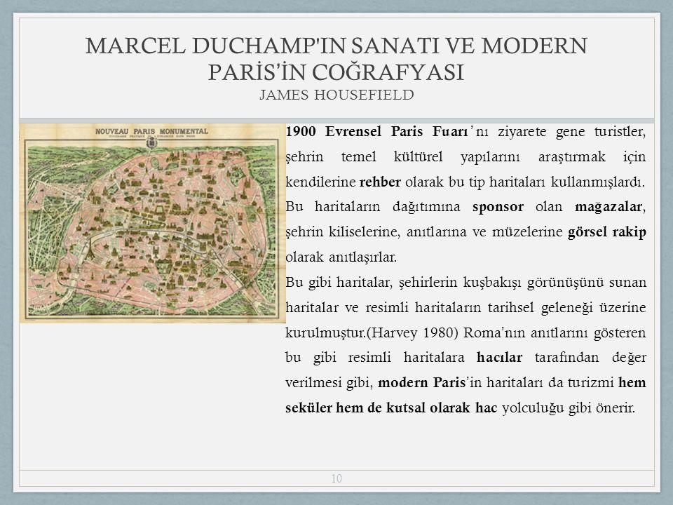10 1900 Evrensel Paris Fuarı ' nı ziyarete gene turistler, ş ehrin temel kültürel yapılarını ara ş tırmak için kendilerine rehber olarak bu tip haritaları kullanmı ş lardı.