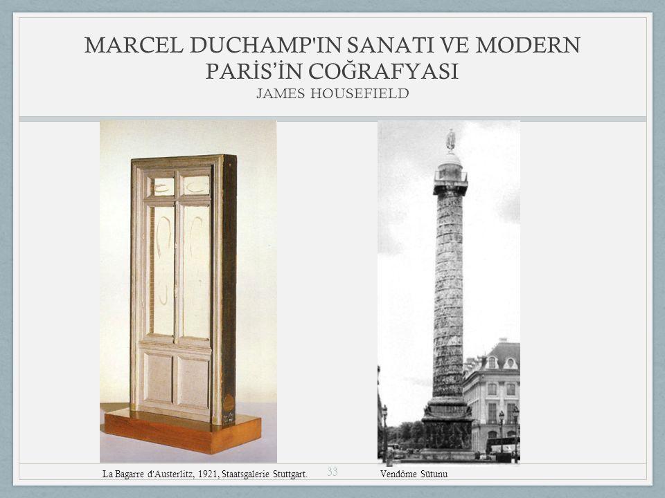 33 MARCEL DUCHAMP IN SANATI VE MODERN PAR İ S 'İ N CO Ğ RAFYASI JAMES HOUSEFIELD La Bagarre d ' Austerlitz, 1921, Staatsgalerie Stuttgart.