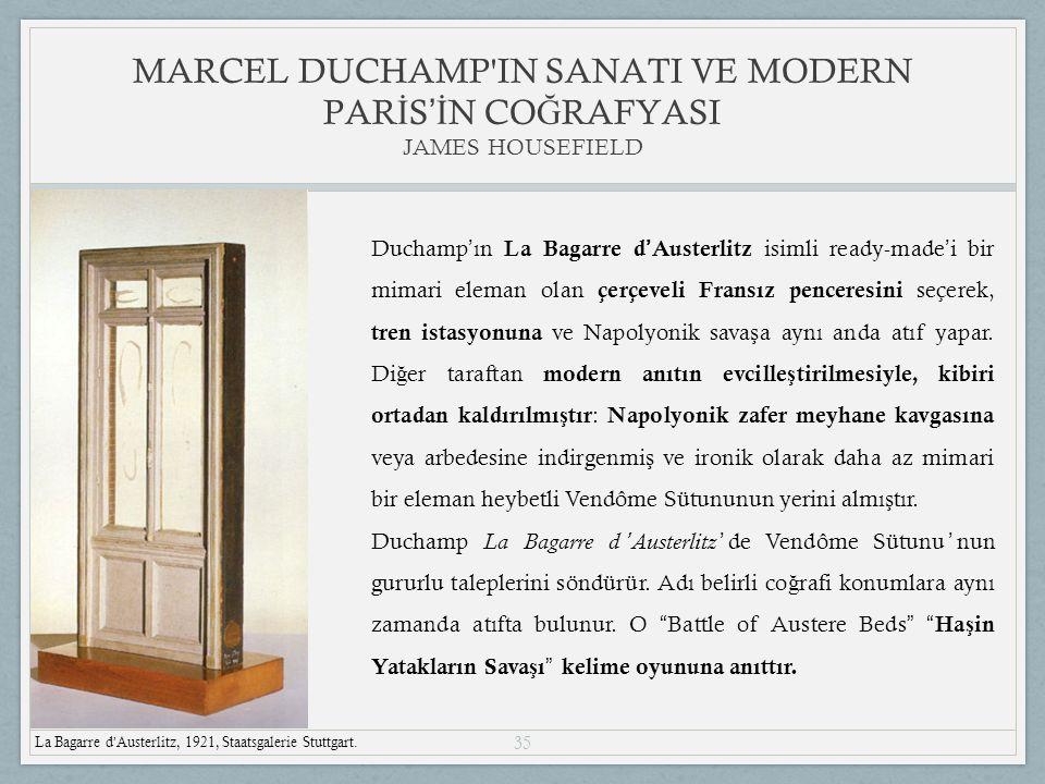 35 MARCEL DUCHAMP IN SANATI VE MODERN PAR İ S 'İ N CO Ğ RAFYASI JAMES HOUSEFIELD La Bagarre d ' Austerlitz, 1921, Staatsgalerie Stuttgart.