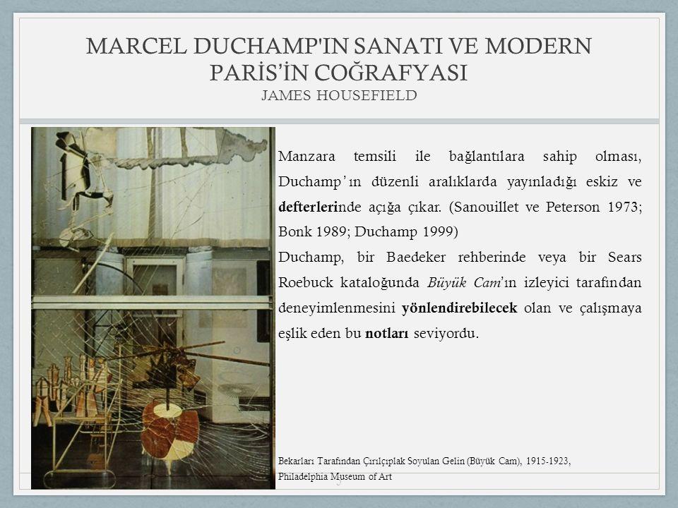 5 Manzara temsili ile ba ğ lantılara sahip olması, Duchamp ' ın düzenli aralıklarda yayınladı ğ ı eskiz ve defterleri nde açı ğ a çıkar.