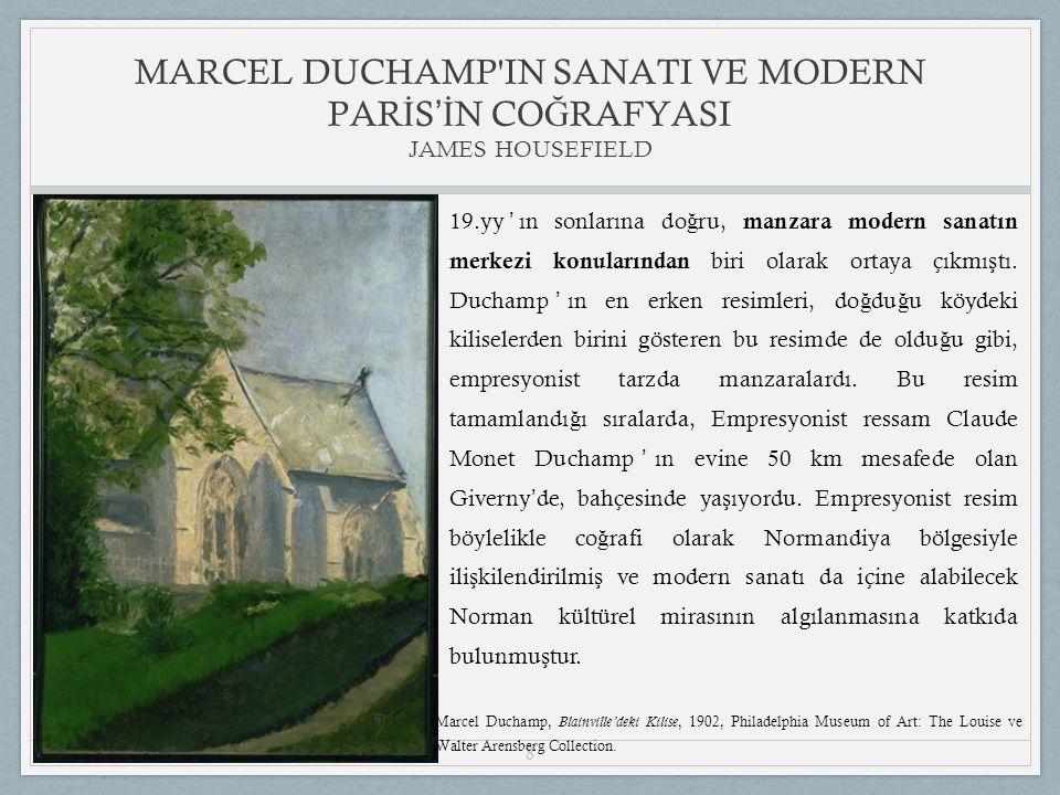 8 19.yy ' ın sonlarına do ğ ru, manzara modern sanatın merkezi konularından biri olarak ortaya çıkmı ş tı.