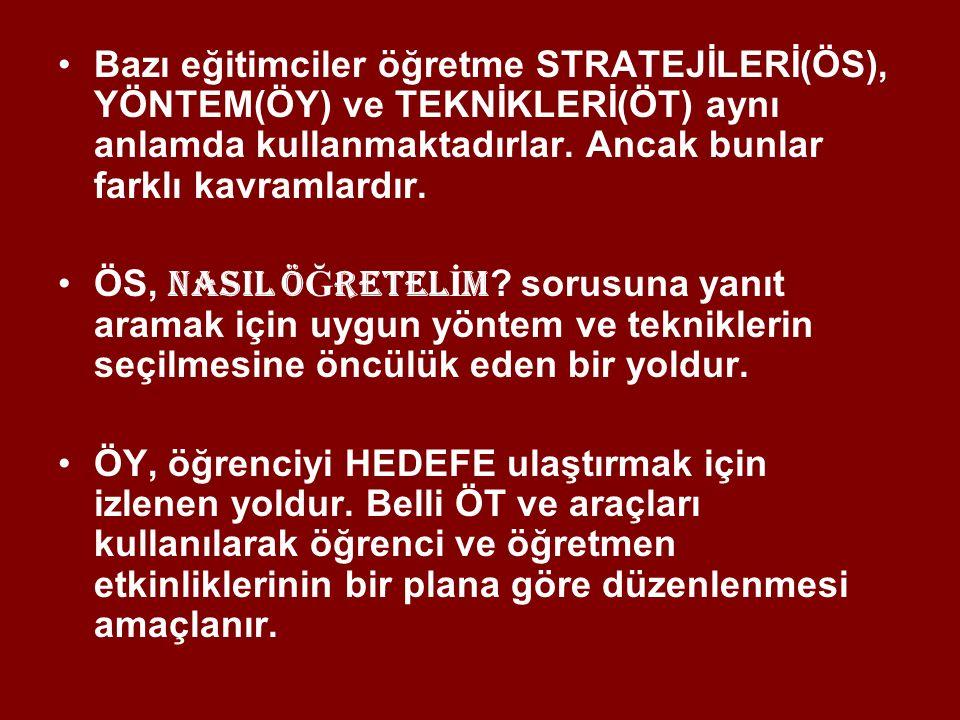 BAŞLICA ÖĞRETİM STRATEJİLERİ 1.