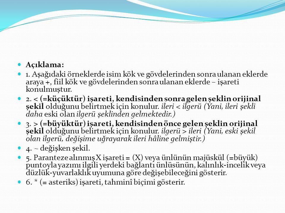 Ünlüler 1. Orhun Türkçesinde Türkiye Türkçesinde olduğu gibi sekiz ünlü (vokal) bulunmaktadır.
