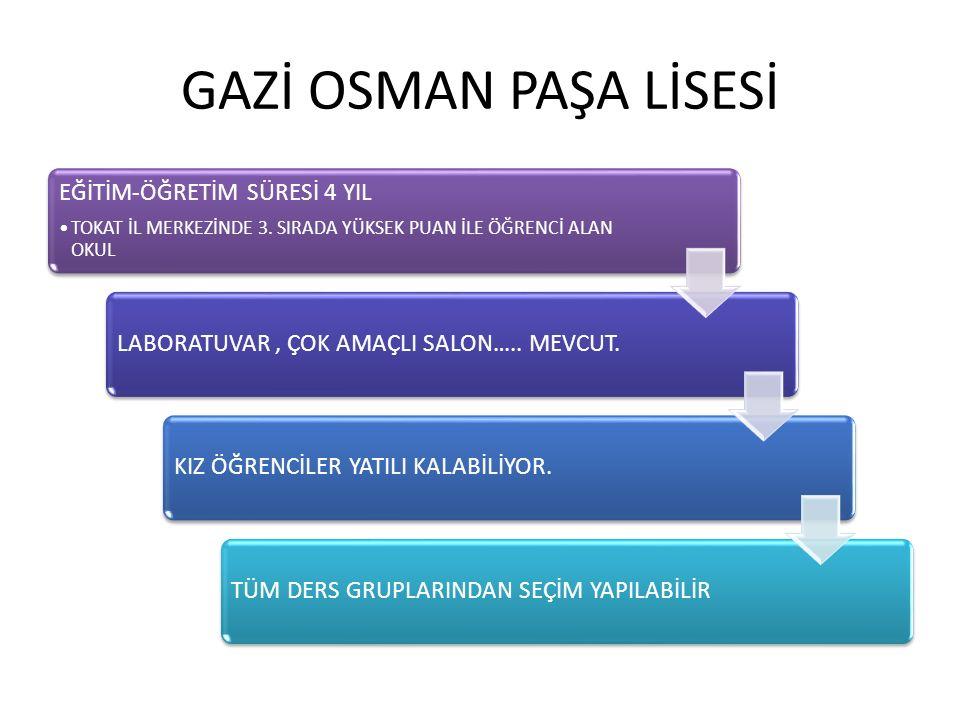 EĞİTİM-ÖĞRETİM SÜRESİ 4 YIL TOKAT İL MERKEZİNDE 3.