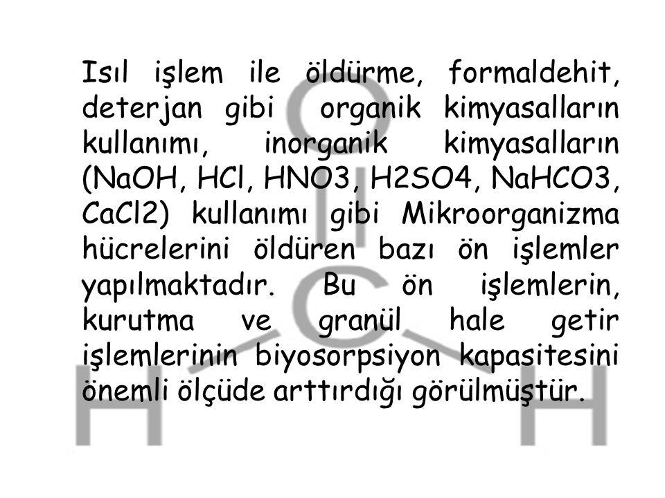 Isıl işlem ile öldürme, formaldehit, deterjan gibi organik kimyasalların kullanımı, inorganik kimyasalların (NaOH, HCl, HNO3, H2SO4, NaHCO3, CaCl2) ku