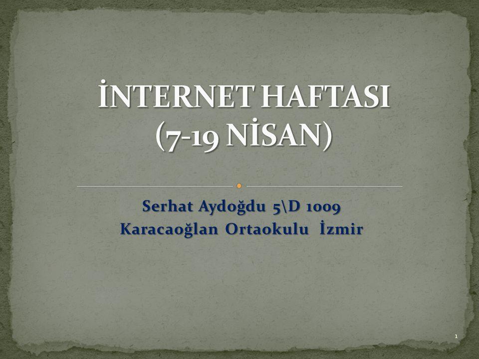 Serhat Aydoğdu 5\D 1009 Karacaoğlan Ortaokulu İzmir 1