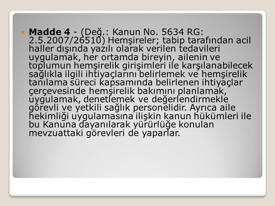 Madde 4 - (Değ.: Kanun No.