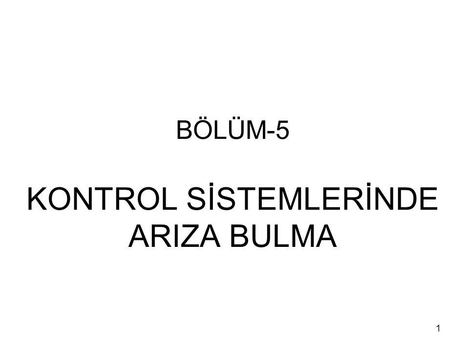 22 M1 BOBİNİNİN TEST EDİLMESİ Şekil-5.2'de görülen M1 bobini kontaklar çekmediği takdirde kontrol edilmelidir.