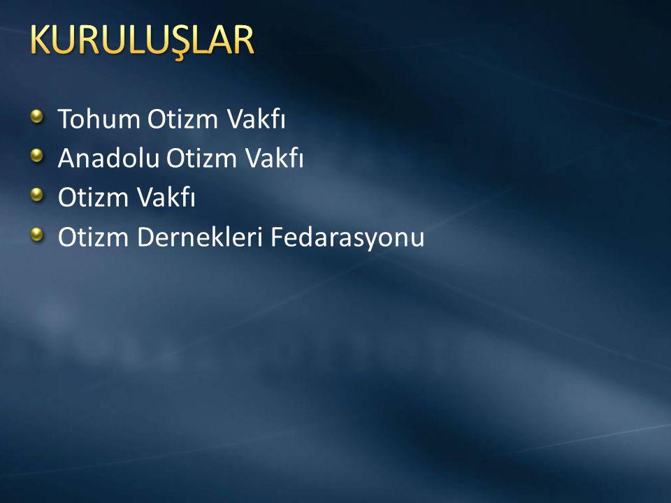 Tohum Otizm Vakfı Anadolu Otizm Vakfı Otizm Vakfı Otizm Dernekleri Fedarasyonu