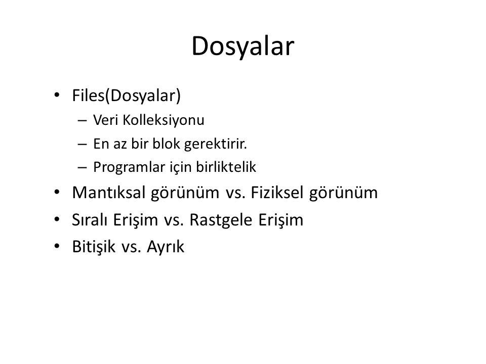 Disk Çizelgelemeleri 4.