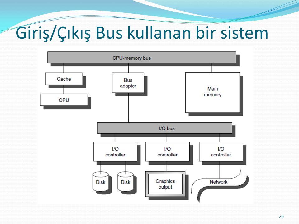 Giriş/Çıkış Bus kullanan bir sistem 26
