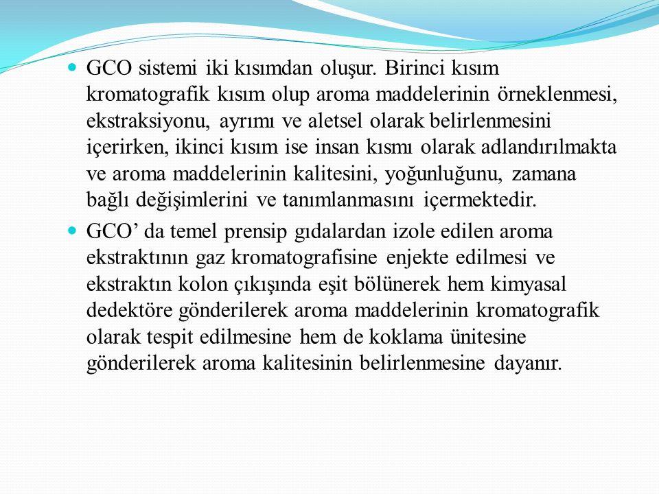 GCO sistemi iki kısımdan oluşur.
