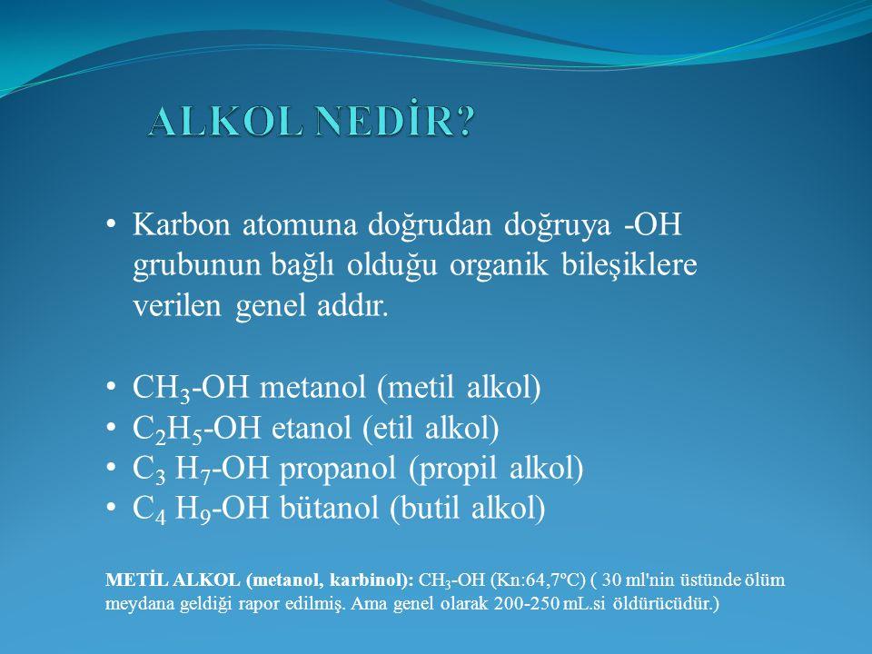 Karbon atomuna doğrudan doğruya -OH grubunun bağlı olduğu organik bileşiklere verilen genel addır.