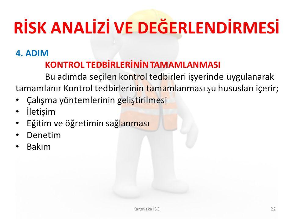 RİSK ANALİZİ VE DEĞERLENDİRMESİ Karşıyaka İSG22 4.