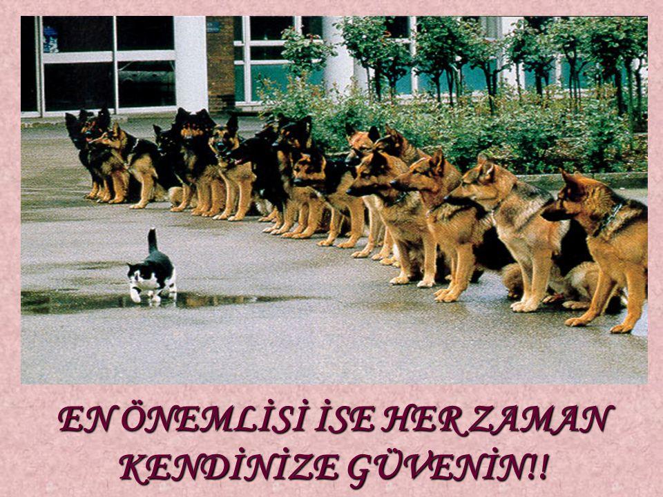 EN ÖNEMLİSİ İSE HER ZAMAN KENDİNİZE GÜVENİN!!