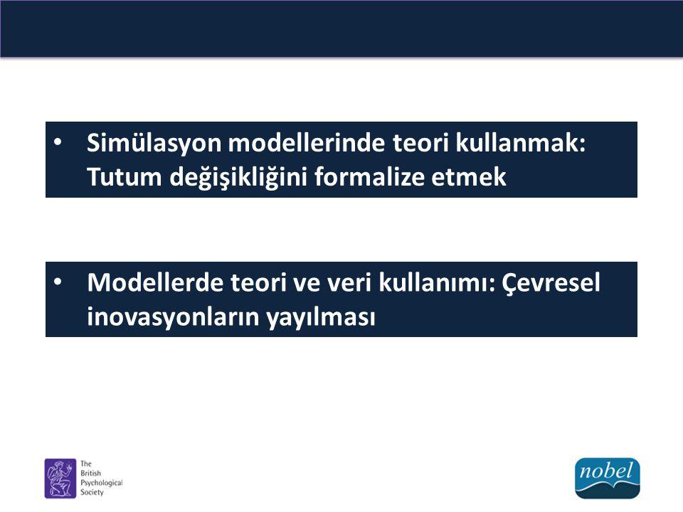 Simülasyon modellerinde teori kullanmak: Tutum değişikliğini formalize etmek Modellerde teori ve veri kullanımı: Çevresel inovasyonların yayılması