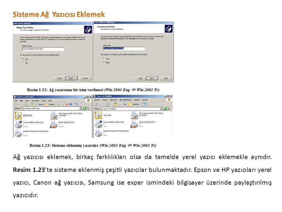 Ağ yazıcısı eklemek, birkaç farklılıkları olsa da temelde yerel yazıcı eklemekle aynıdır.