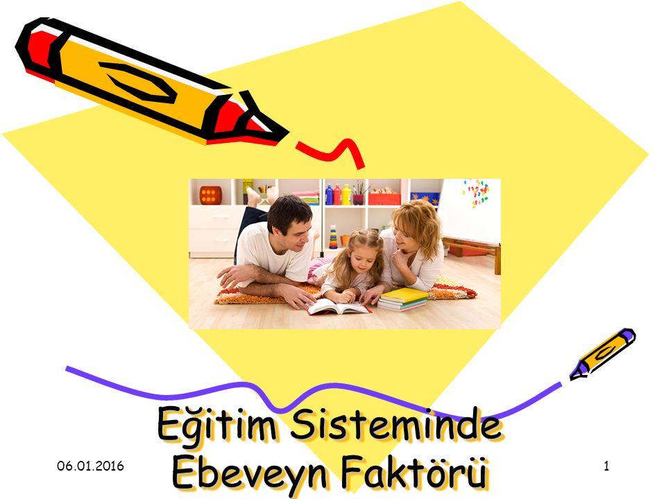 Eğitim Sisteminde Ebeveyn Faktörü 06.01.20161