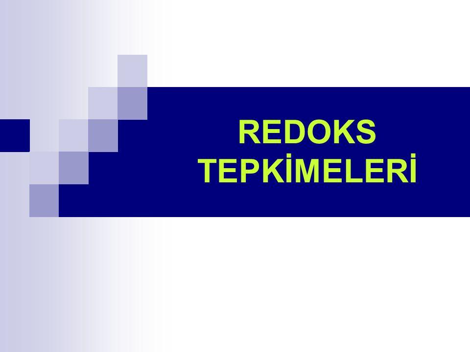 REDOKS TEPKİMELERİ