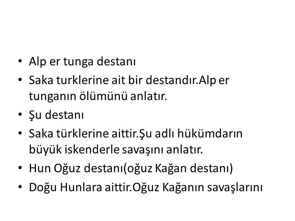 Anlatır.Destanda bazı Türk boylarının isimlerinin nerden geldiğini anlatır.