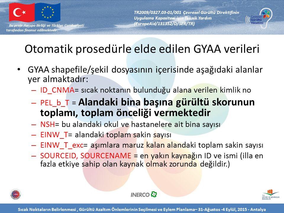 Sıcak Noktaların Belirlenmesi, Gürültü Azaltım Önlemlerinin Seçilmesi ve Eylem Planlama– 31-Ağustos -4 Eylül, 2015 - Antalya Bu proje Avrupa Birliği ve Türkiye Cumhuriyeti tarafından finanse edilmektedir.