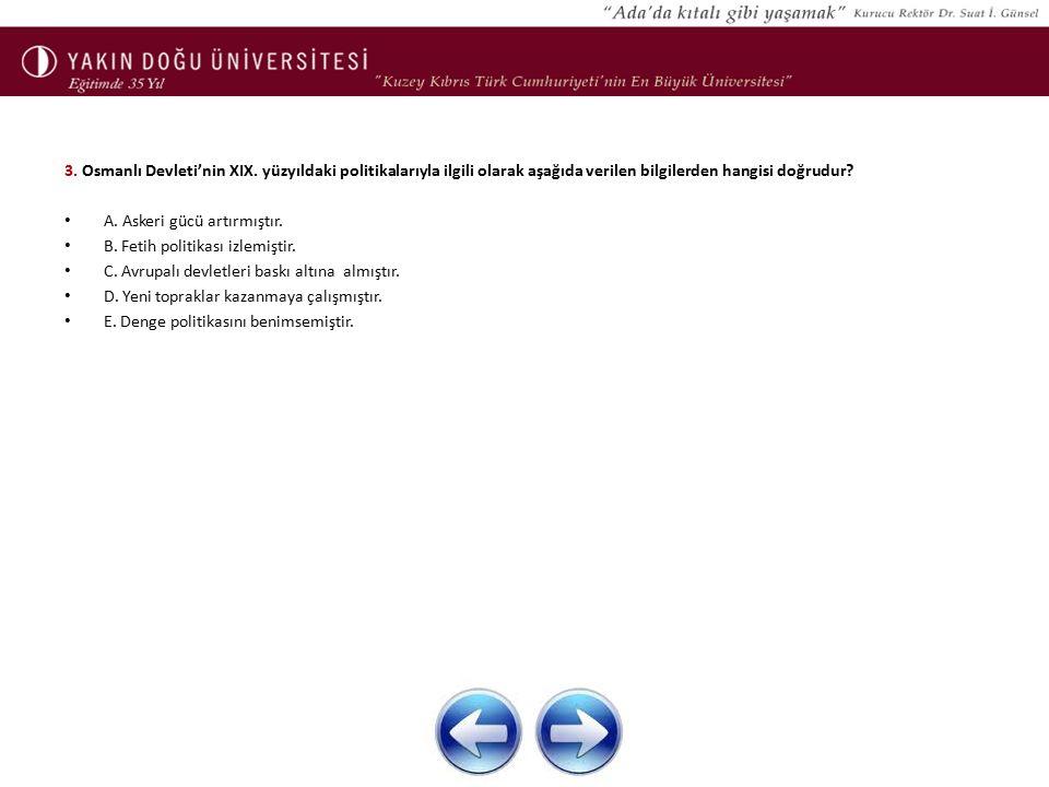 3.Osmanlı Devleti'nin XIX.
