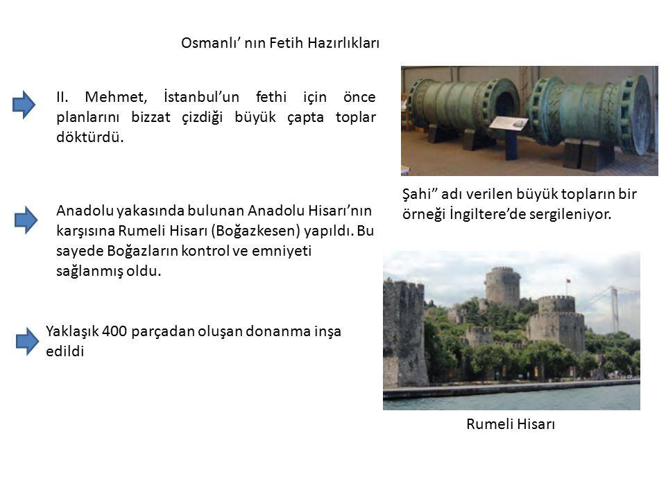Osmanlı' nın Fetih Hazırlıkları II.