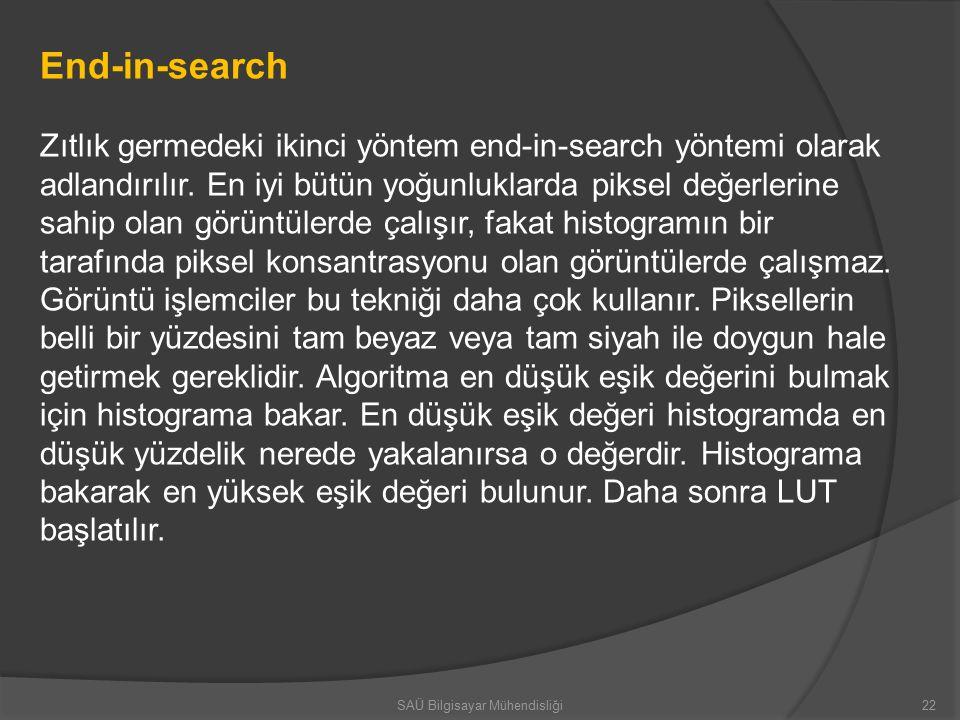 End-in-search Zıtlık germedeki ikinci yöntem end-in-search yöntemi olarak adlandırılır.