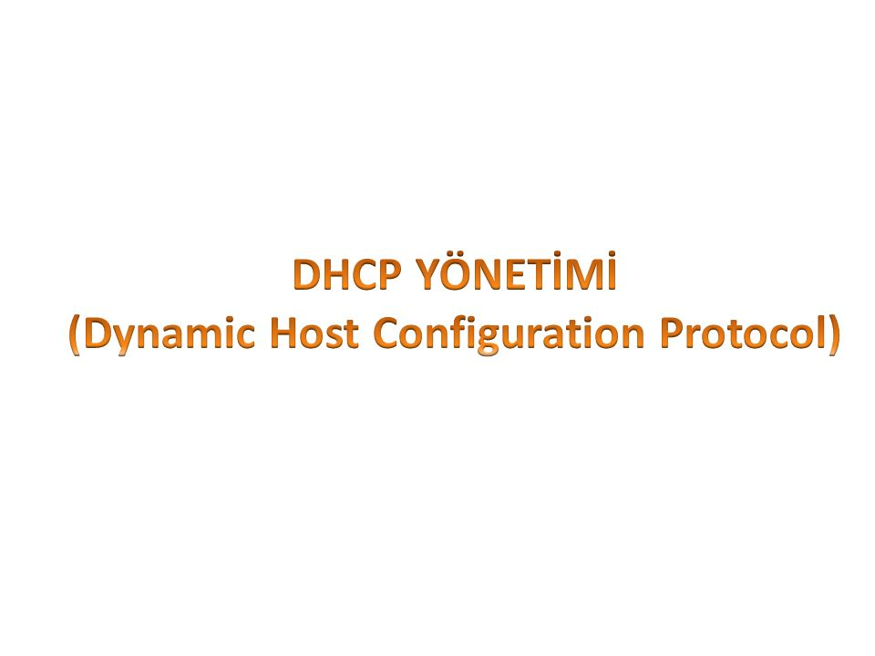 DHCP (Dynamic Host Configuration Protocol) server, IP adreslerini dağıtan bir servistir.
