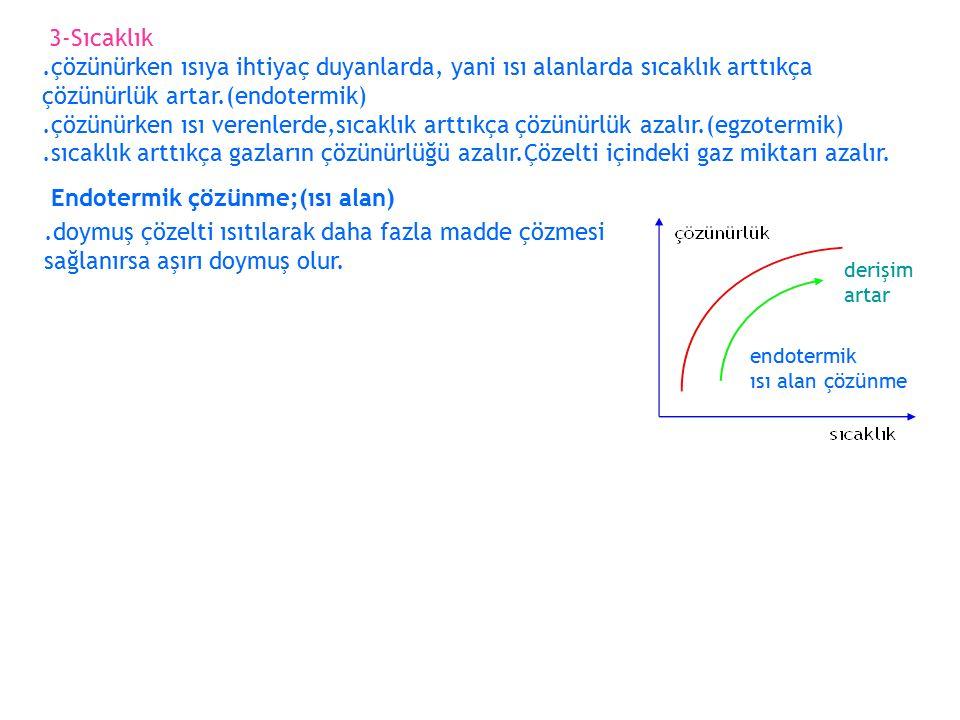 Çözünme Hızı Çözünen maddenin boyutu küçültülürse (toz haline getirilirse) çözünme hızı artar.