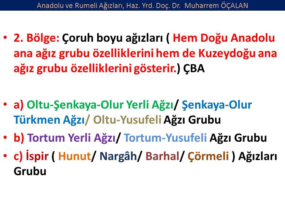 Anadolu ve Rumeli Ağızları, Haz. Yrd. Doç. Dr. Muharrem ÖÇALAN 2.