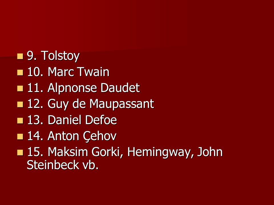 9.Tolstoy 9. Tolstoy 10. Marc Twain 10. Marc Twain 11.