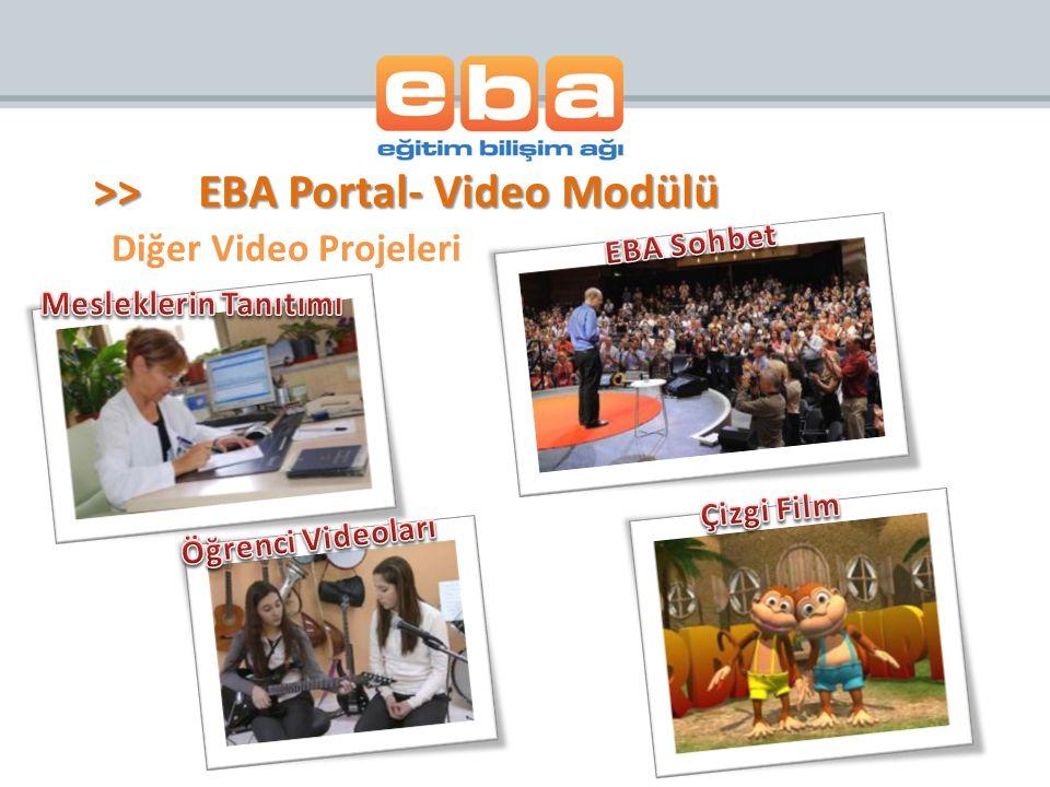 Diğer Video Projeleri >>EBA Portal- Video Modülü