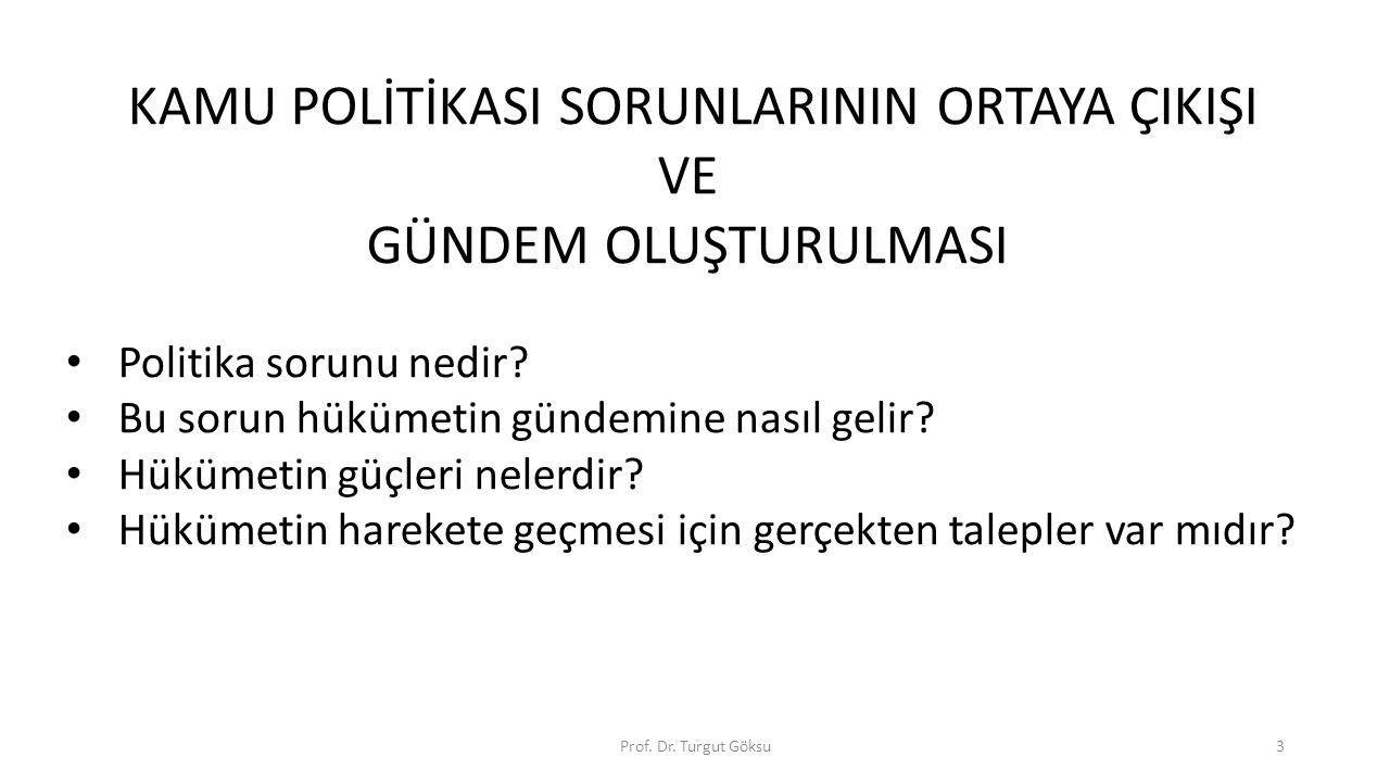 Politika sorunu nedir.