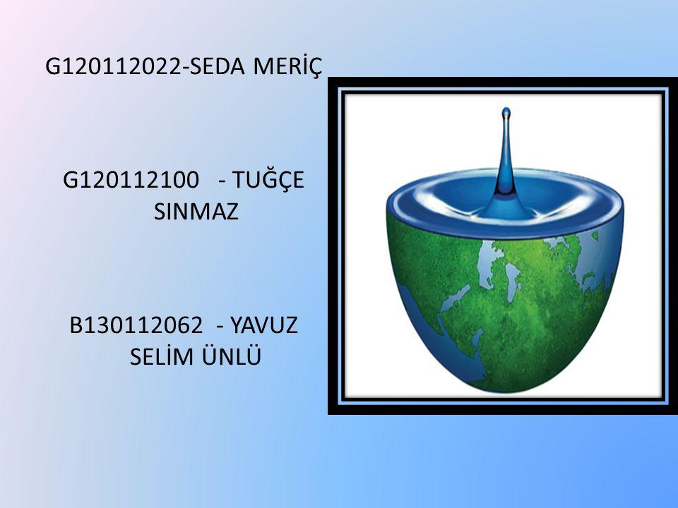 G120112022-SEDA MERİÇ G120112100 - TUĞÇE SINMAZ B130112062 - YAVUZ SELİM ÜNLÜ