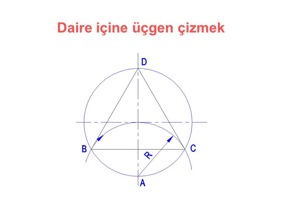 Daire içine üçgen çizmek